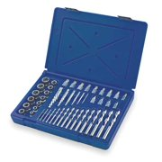 IRWIN HANSON 3101010 Extractor/Drill Set, HSS, Cobalt, 48 Pcs