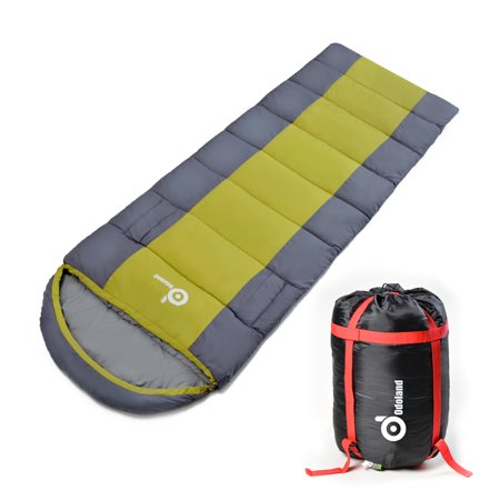 Odoland Portable Cold Weather 40f Sleeping Bag Best 3 Season W Compression Package