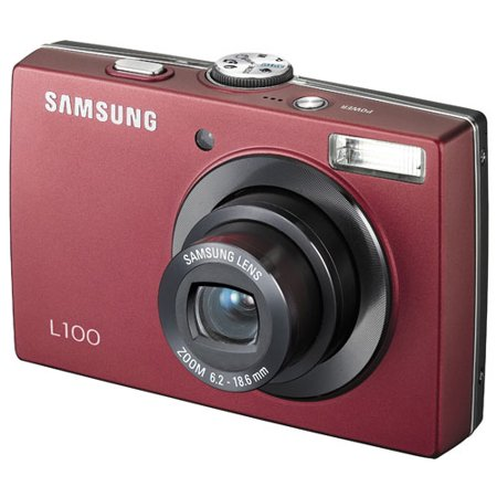 Samsung L100 8.2MP Digital Camera with 3x Optical Zoom (Red) ()