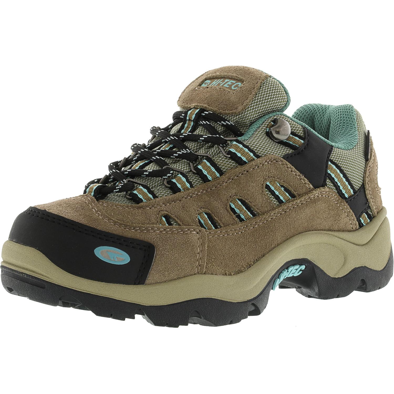 Hi-Tec Women's Bandera Low Waterproof Taupe   Dusty Mint Ankle-High Hiking Shoe 5.5M by Hi-Tec