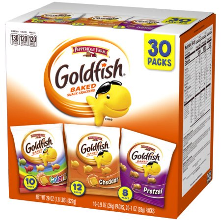 Betty Crocker Sauce - Pepperidge Farm Goldfish Classic Mix Crackers, 29 oz. Variety Pack Box, 30-count Snack Packs