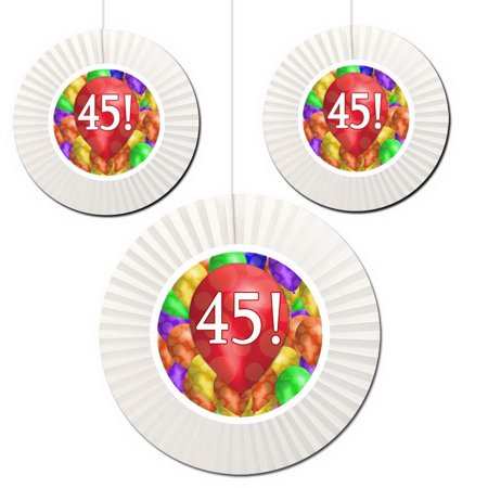 Partypro TQP 5371 45Th Birthday Balloon Blast Fan Decorati