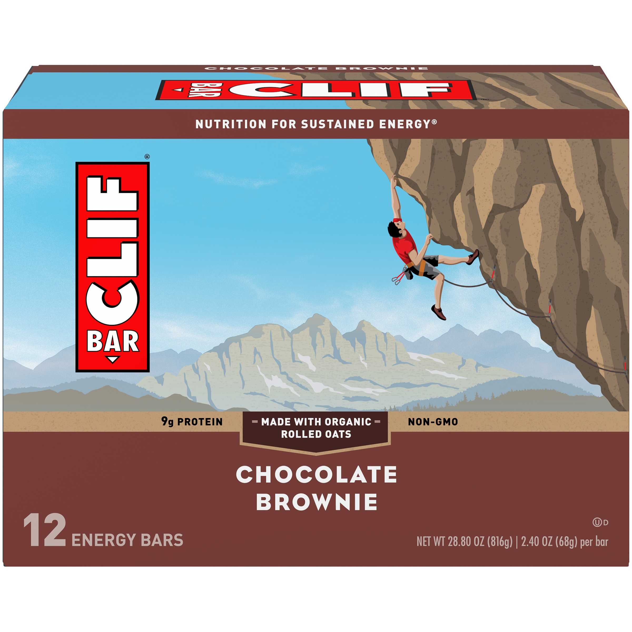 CLIF Bar® Chocolate Brownie Energy Bars 12-2.4 oz. Bars