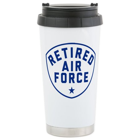 CafePress - Retired Air Force - Stainless Steel Travel Mug, Insulated 16 oz. Coffee Tumbler