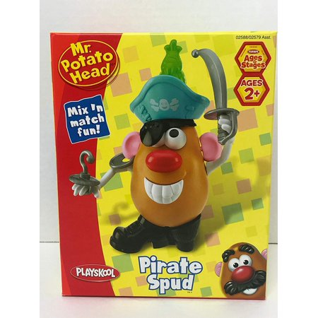 Spud Parts - Mr. Potato Head Pirate Spud, Includes potato body and 14 Pirate themed body parts By Playskool