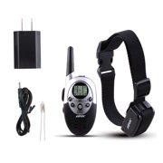 Rainproof Rechargeable Dog Shock Training Collar with Remote Adjustable Collar Length 1000 Yard