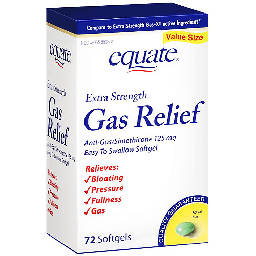 Equate Extra Strength Gas Relief, 72ct
