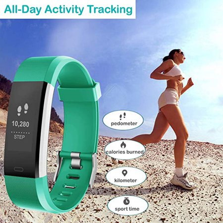Fitness Tracker, Activity Trackers Health Exercise Watch with Heart Rate Monitor and Sleep Monitor, Smart Band Calorie Counter, Step Counter, Pedometer Walking for Kids Girls and Boys - image 5 of 9