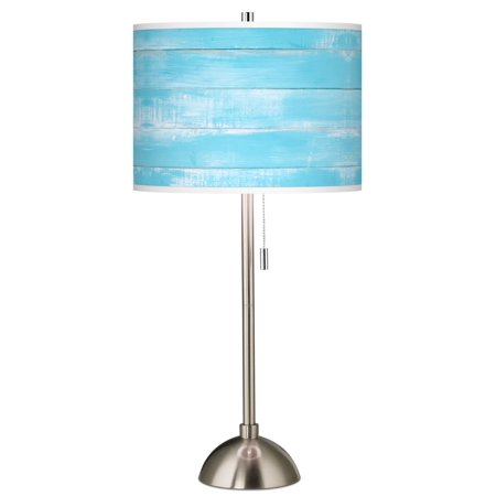 Giclee Gallery Barnyard Blue Giclee Brushed Nickel Table Lamp