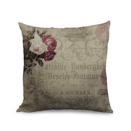Standard Throw Pillow Cover Sizes : Popeven Pillow Cover Decorative Throw Pillow Cases, Cushion Covers Flower,Standard Size 18inch ...