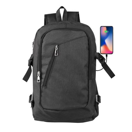 Laptop Backpack, EEEkit Travel Computer Bag for Women & Men, Water Resistant Multi Compartment  College School Bookbag, Slim Business Backpack with USB Charging Port Fits Laptop & (Best Bookbag For College)