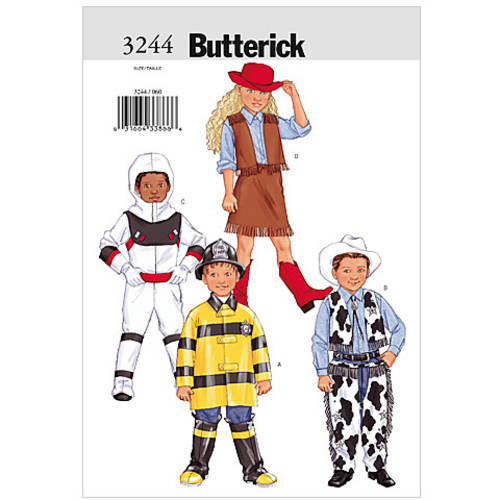Butterick Children's, Boys' and Girls' Costume, (6, 7, 8)