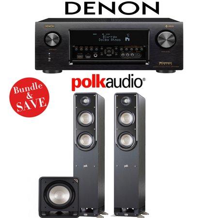 DENON AVR-X4400H RECEIVER + POLK AUDIO S50 + POLK AUDIO HTS12