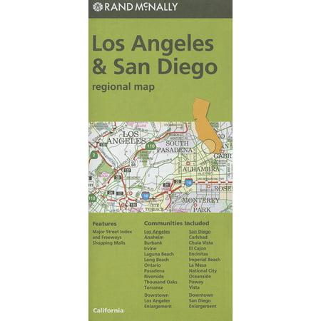 Rand mcnally los angeles & san diego, california regional map - folded map: