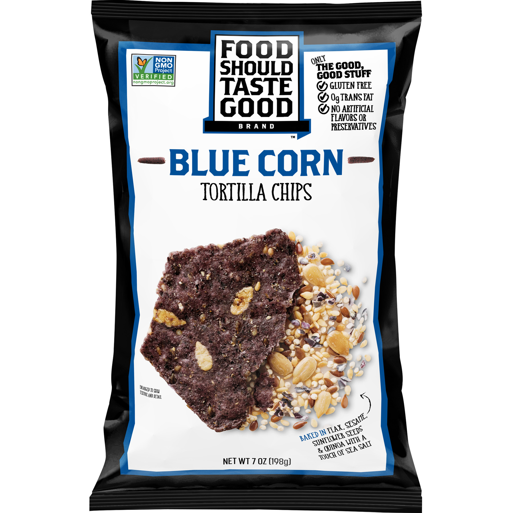 Food Should Taste Good Blue Corn Tortilla Chips, 7 oz