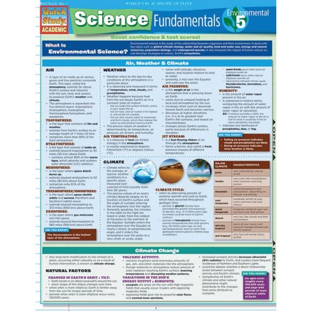 Science Element Chart - QuickStudy Bar Chart: Science Fundamentals 5 - Environmental