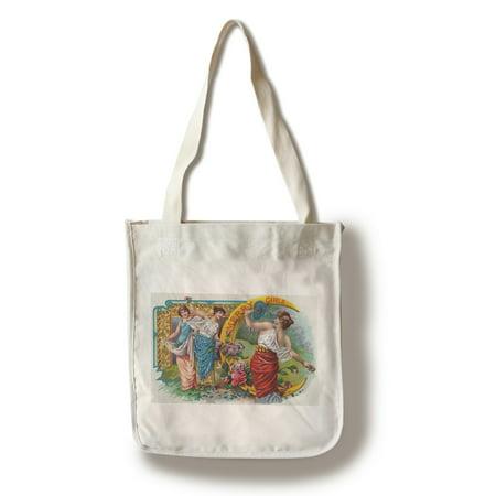 Merry Girls Brand Cigar Box Label (100% Cotton Tote Bag -