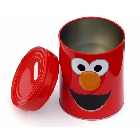 - Elmo Rounded Tin Coin Bank - Red