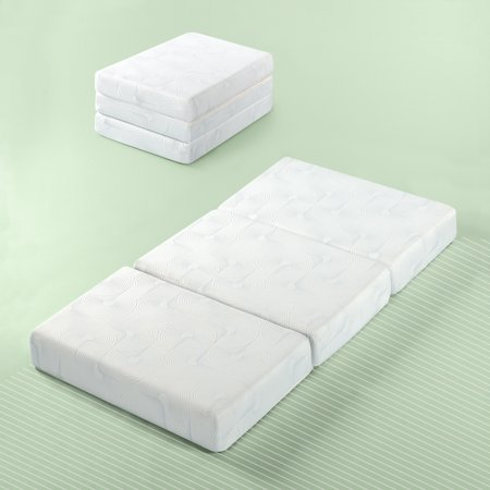 "Zinus Gel Memory Foam 5"" Portable Tri-Fold Mattress"