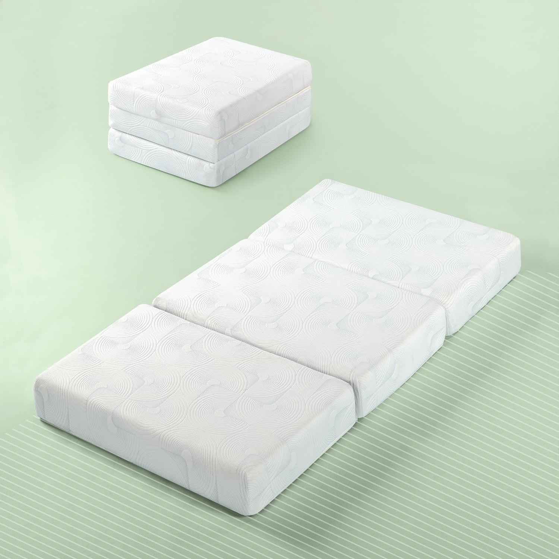 "Zinus Gel Memory Foam 5"" Portable Tri-Fold Mattress"