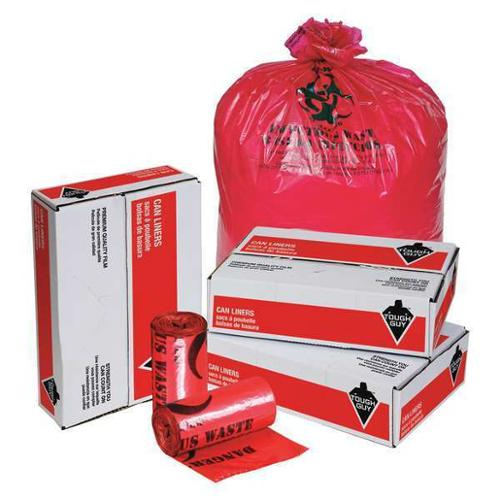 Tough Guy 31DK97 Red Linear Low Density Polyethylene 30 to 35 gal. Trash Bag