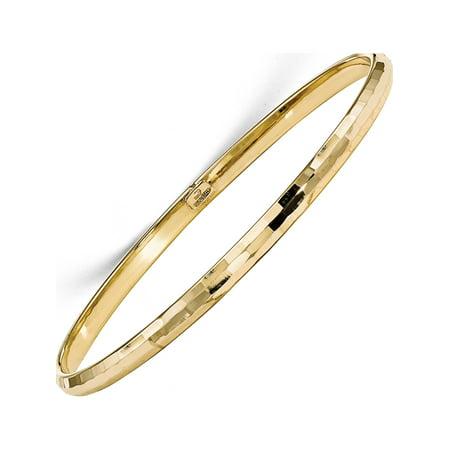 10k Yellow Gold Leslies Polished Bangle Bracelet