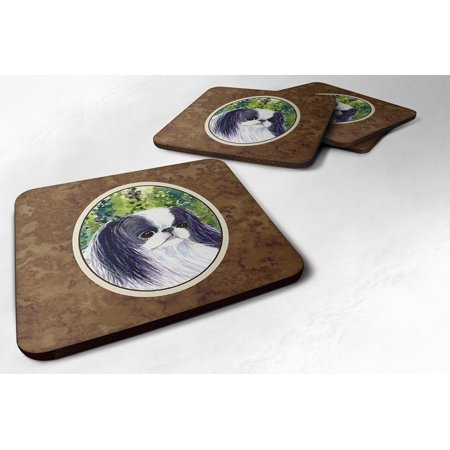 Set of 4 Japanese Chin Foam Coasters