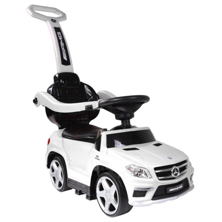 4 in 1 Mercedes Push Car White