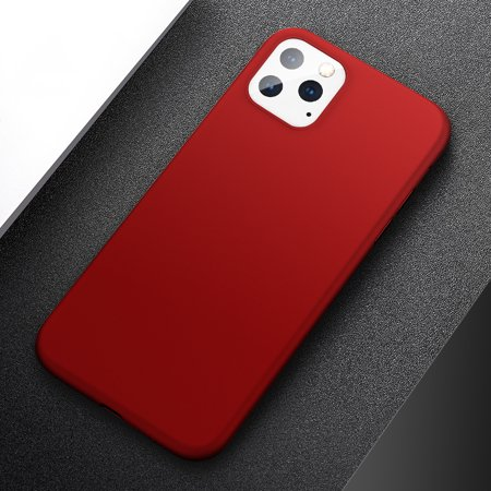 Matte Plastic Coque Cover 6.1 For iPhone 11 Case For Apple iPhone 11 Phone Back Coque Cover Case (Red) (Coque Iphone)