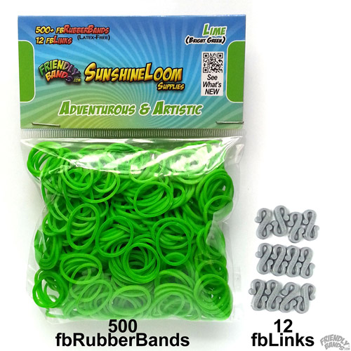 Friendly Bands Sunshine Bands Pack, Lime Green