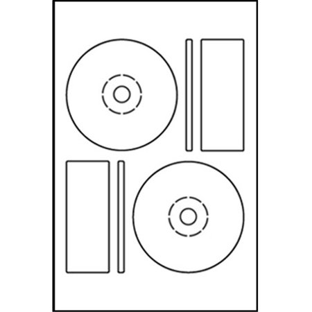 Memorex Compatible DISC CD DVD Labels with Large Core Center (2 Labels Per Sheet, White, 50 Sheets) ()