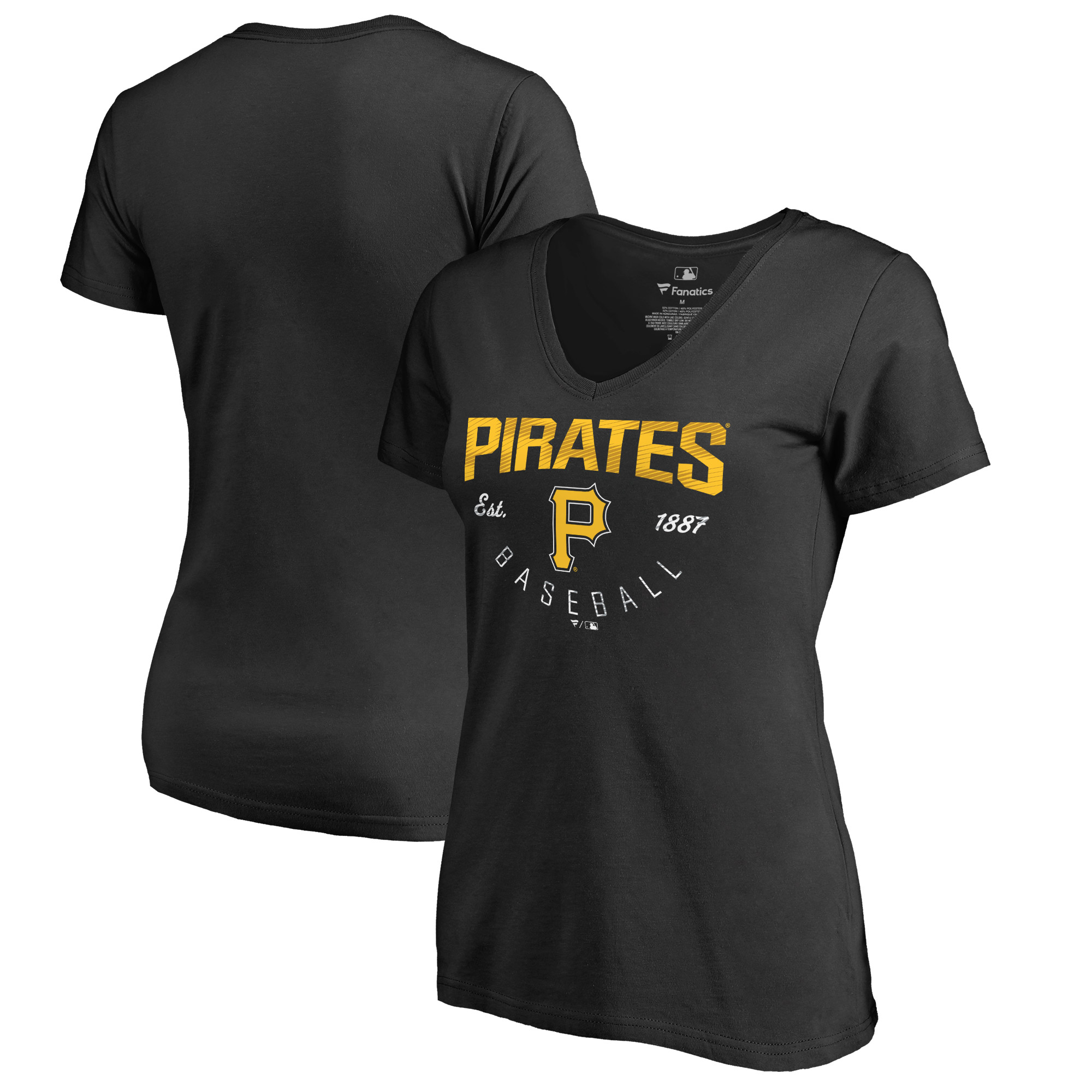 Pittsburgh Pirates Fanatics Branded Women's Live For It T-Shirt - Black