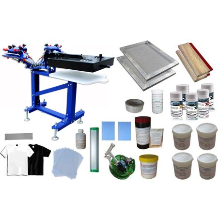 Techtongda 3 Color 1 Station Screen Printing Press Kit B with Dryer Material Supply Micro-registration Functioned (Best Screen Printing Supply)