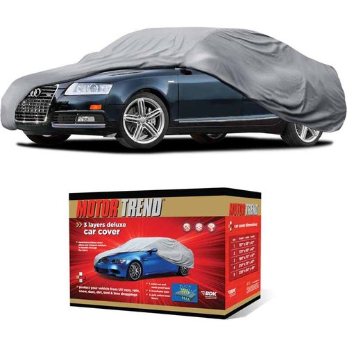 Motor Trend All Weather Protection, Universal Fit Car Cover, UV and Water Proof, Gray