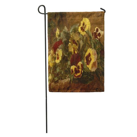 KDAGR Pansies by Henri Fantin Latour 1903 French Impressionist Painting Oil Garden Flag Decorative Flag House Banner 12x18 inch