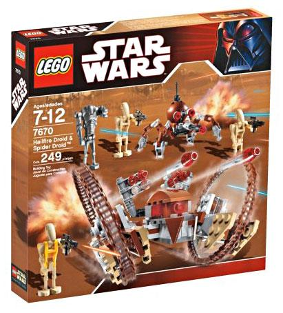 Star Wars The Clone Wars Hailfire Droid & Spider Droid Set LEGO 7670