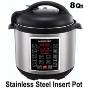 GoWISE USA GW22623 4th-Generation Electric Pressure Cooker with steam rack, steam basket, rice