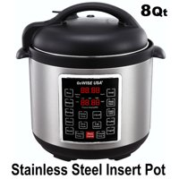 310cc4611 Product Image GoWISE USA 8-Quart 10-in-1 Electric Programmable Pressure  Cooker (Stainless