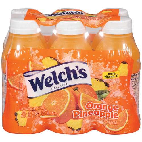 Welch's Single Serve Orange Pineapple Juice, 6 Ct/60 fl oz