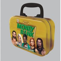 19 TOPPS WWE MONEY IN THE BANK TIN- Online Exclusive   Featuring WWE Women Autographs& Relic Cards