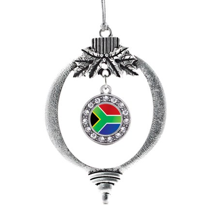 South Africa Flag Circle Holiday Ornament