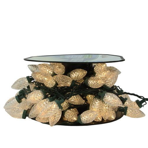 Northlight Seasonal 100 Piece Commercial Length LED Faceted C9 Christmas Light on Spool Set