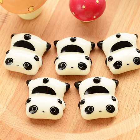 Panda Shape (Ceramic Chopstick Rest Lovely Panda Shape Cute Exquisite Chopstick Holder)