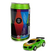 Mini RC Car Cans Package Telecontrol Racing Car Toys for Children - Green