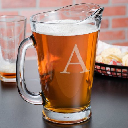 Custom Anchor Hocking Glass Beer Wagon Pitcher, 55 oz