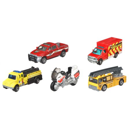- Matchbox Fire Department Rescue 5-Pack Vehicle Set