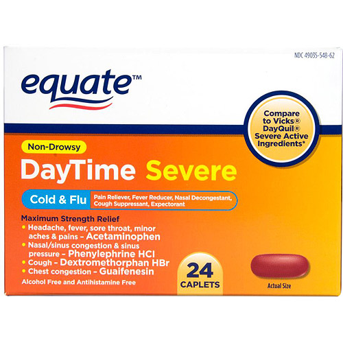 Equate Daytime Cold & Flu, 24 count