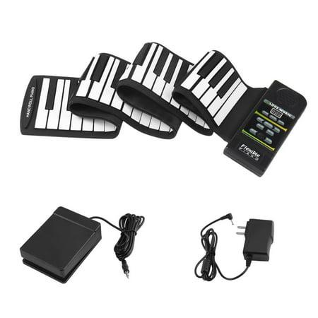 Hand Roll Up Electronic Piano Pad Portable 88 Key Electronic Piano Keyboard