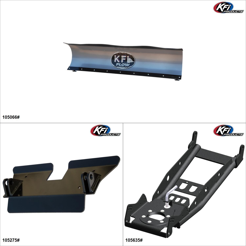 KFIProducts - UTV Plow Kit - 66'', Can-Am Commander Max 1000 2014-17 Black / Silver  #KK00002364_5