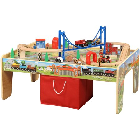 50-Piece Train Set with 2-in-1 Activity Table - Walmart.com